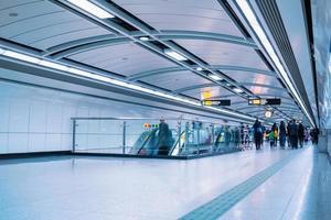 tunnelbanepassage i guangzhou foto
