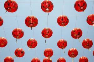 kinesiska lyktor i nyårsdagen. foto