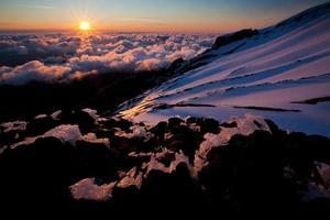 vacker solnedgång foto
