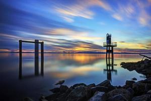 solnedgång tid foto