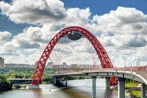 modern kabelstannad bro i Moskva