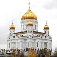 moskva - katedralen av Kristus Frälsaren