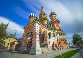 helgonbasilkatedralen bästa ovanliga utsikten. moskva. ryssland.