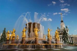 fontän vänskap av människor i vdnkh, Moskva, Ryssland foto
