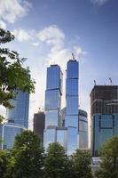 höga moderna skyskrapor foto