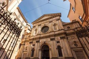 saint maria och saint satiro kyrka foto