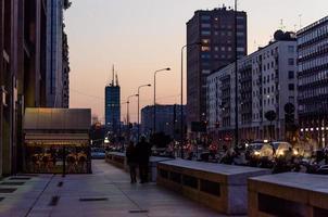milan vid solnedgången foto