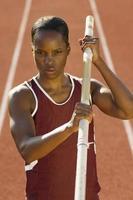 kvinnlig idrottare foto
