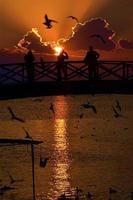 solnedgång himmel bakgrund, foto
