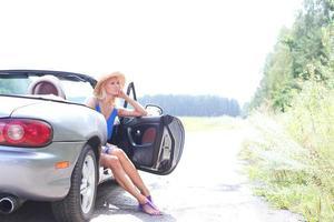 kvinnlig väg resa