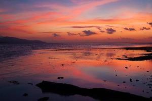 tropiskt hav solnedgång