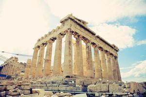 parthenon på akropolis athens foto
