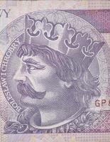 boleslaw chrobry på den 2o polska zloty-räkningen foto
