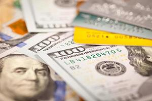 dollar och kreditkort foto