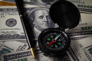 affärsriktning för pengar foto