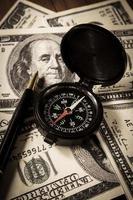 affärsriktning för pengar. foto