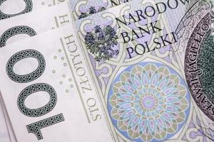 polska 100 pln anteckning foto