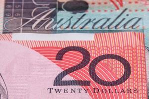 australiska 20 dollar (20 dollar) sedlar foto