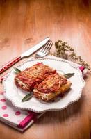 italiensk lasagne foto