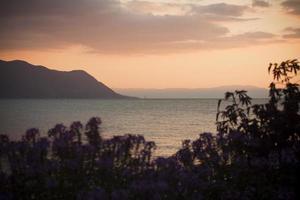 geneva lake i Montreux foto