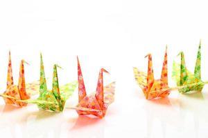 origami fåglar foto