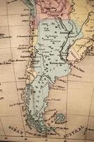 antik fransk karta över argentina foto