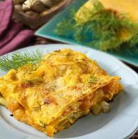 vegetarisk lasagne foto
