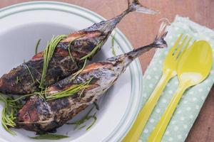 grillad fiskmeny foto
