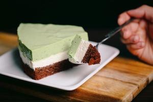 matcha tårta foto