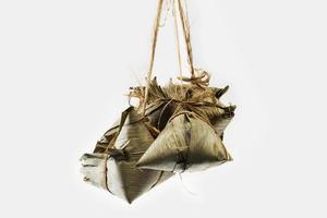 dumpling av zongzi eller klibbig ris foto