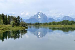 Mount Moran och ormfloden foto