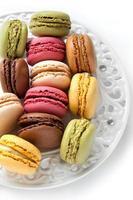 färgglada franska macarons foto