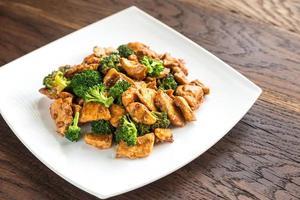 kyckling med broccoli foto