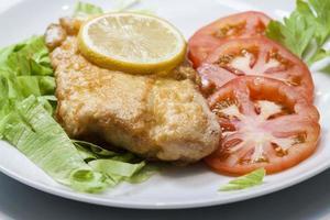 hälsosam fiskmåltid foto