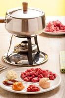 fondue bourguignonne foto