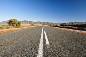 väg 62 nära Oudtshoorn - Sydafrika foto