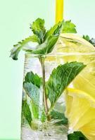 cocktail med mynta och citron foto