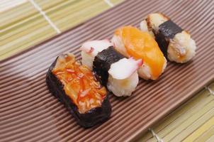 sushi nigiri, japansk mat foto