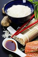 sushi ingredienser foto
