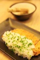 japansk mat tonkatsu med ris foto