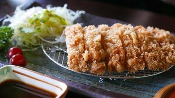 japansk mat tonkatsu foto