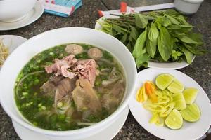 Vietnamnudelset i Ho Chi Minh-staden foto