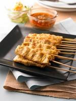 asiatisk grillad fläsk, thai traditionell matlagning foto
