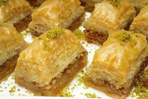 catering. efterrätt, turkiska baklava foto