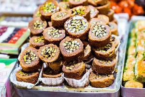 baklava på en marknad i istanbul foto