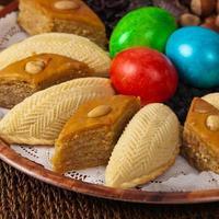färgade ägg för påsk foto