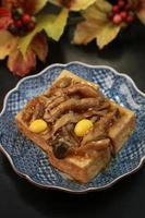 friterad tofu foto