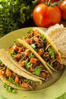 hemlagad mark nötkött tacos foto
