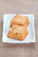 friterad tofu bubbla eller tofu ostmassa foto