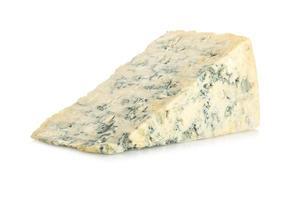 blå ost på vit foto